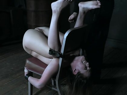 Petite princess Sasha Heart tied up and tortured to multiple orgasms