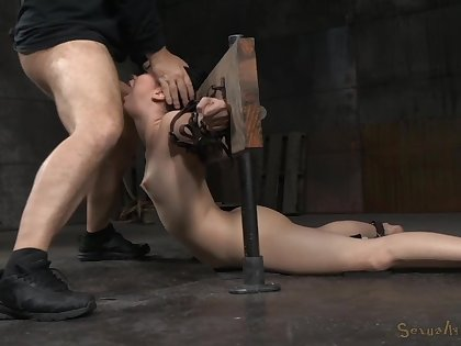 She's being gagged increased by ass fucked while surely restrained