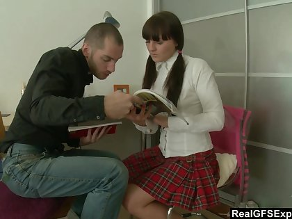 Naughty pigtailed absent oneself from chick Anastasia deserves rather hard mish