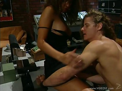 Gleaming brunette pornstar rides a cock cowgirl style after getting her pussy shattered