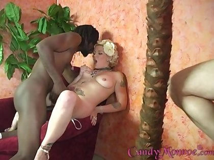 Sweets Monroe loves to pleasure black guys in pretend be advisable for her husband