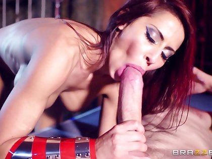 Sexy pornstar Madison Ivy with dazzling fake tits penetrated