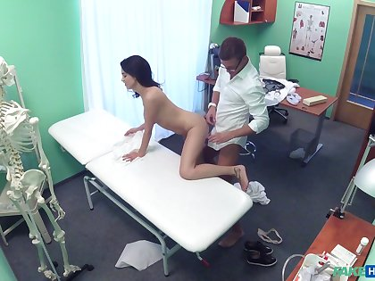 Dirty doctor dicks his big-chested patient Nikole Perry
