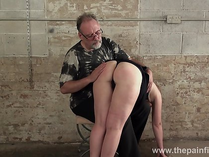 Young bitch Lolani gets will not hear of plump ass spanked in the basement