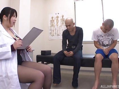 Big boobs Japanese Shizuku Amayoshi and yoke unpaid dudes. HD