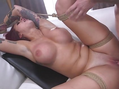 Redhead mature wife Tana Lea drops on her knees to suck his detect