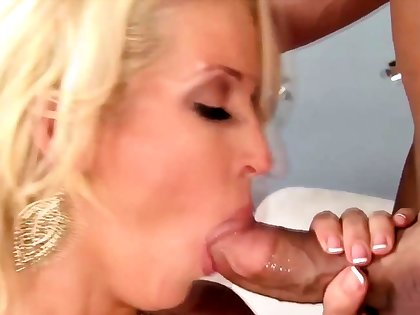 Blonde milf housewife with her awesome follower groupie