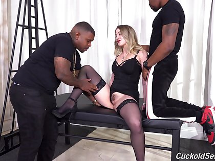 Raw interracial suits the slutty blonde with respect to uncontrolled black relish