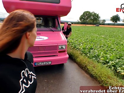 German housewife pick up fianc� in car