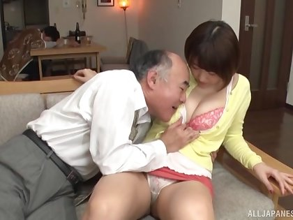Careful fucking on the bed with natural boobs Japanese Matsumoto Nanami