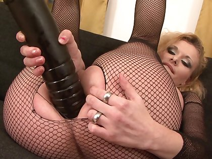 Of age in sexy fishnets, merciless interracial anal