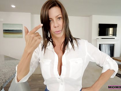 Busty MILF Alexis Fawx gets her hands on a friend's thick pecker