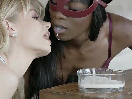 Interracial lesbian lovemaking the last straw stars Ana Foxxx & Serene Siren