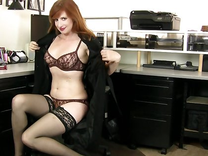 Cute model Amber Dawn in high heels plays in the kitchen. HD