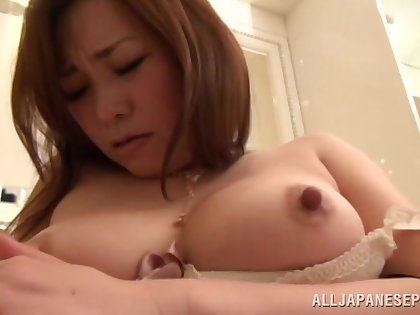 Awesome Asian chick likes it when a friend cums throughout over their way diet