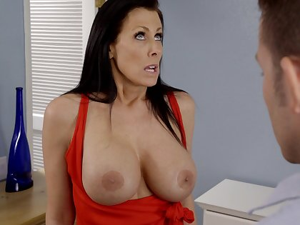 Busty mature Reagan Foxx opens her wings to dread fucked balls deep