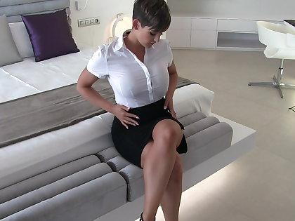 Sexy secretary wet duds fantasy